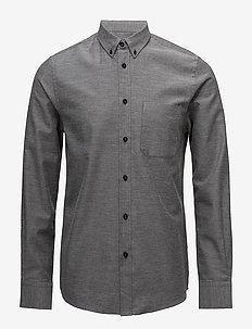 M. Pierre Flannel Shirt - avslappede skjorter - grey mel.