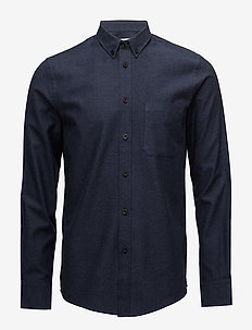 M. Pierre Flannel Shirt - casual - navy