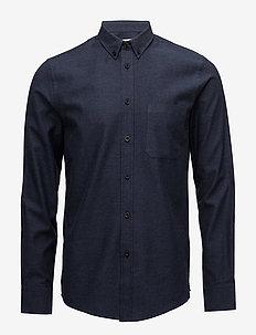 M. Pierre Flannel Shirt - avslappede skjorter - navy