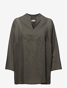 Light Pleat Blouse - pitkähihaiset puserot - sage