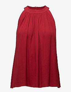 Gather Top - blouses zonder mouwen - rouge