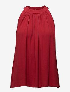 Gather Top - bluzki bez rękawów - rouge