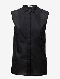 Tuxedo Sleeveless shirt - overhemden met korte mouwen - black