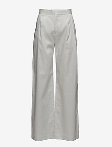 Katie Pleated Trousers - wide leg trousers - mineral