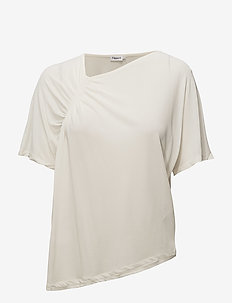 Smock Jersey Top - short-sleeved blouses - cream