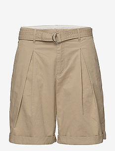 Madison Belted Shorts - paper bag shorts - bamboo
