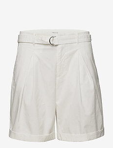 Madison Belted Shorts - paper bag shorts - white