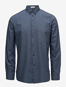 M. Peter Washed Poplin Shirt - business shirts - coastal