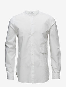 M. Peter Washed Pocket Shirt - avslappede skjorter - white