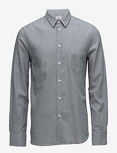 M. Pierre Houndstooth Shirt - casual - blue/salt