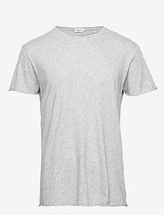 M. Roll Neck Tee - basic t-shirts - light grey