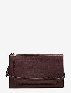 Carol Leather Mini Bag - skuldervesker - bordeaux