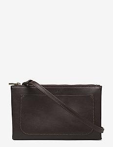 Carol Leather Mini Bag - schoudertassen - dk cacao