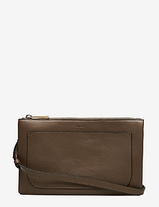 Carol Leather Mini Bag - skuldervesker - dk stone