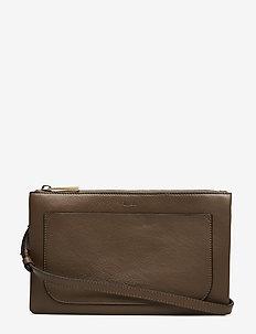 Carol Leather Mini Bag - skuldertasker - dk stone