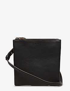 Marly Utility Leather Bag - schoudertassen - black