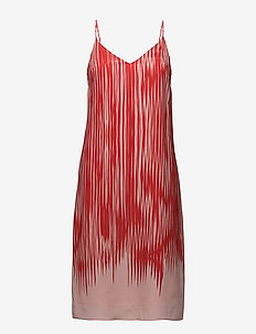 Strappy Print Dress - robes courtes - red abstra