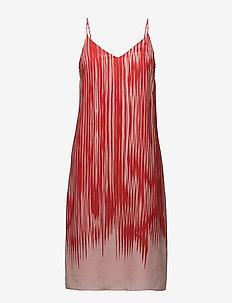 Strappy Print Dress - korte kjoler - red abstra