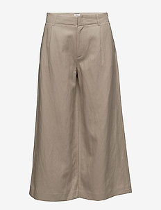Max Cropped Wide Trousers - wide leg trousers - hemp