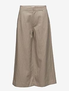 Max Cropped Wide Trousers - bukser med brede ben - hemp