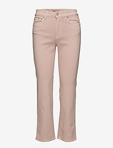 Stella Cropped Coloured Denim - straight jeans - petal