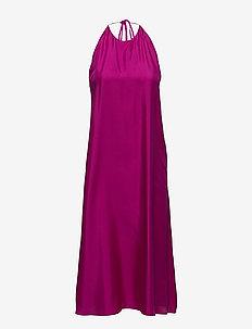 Silk Halter Dress - ORCHID