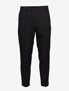 M. Terry Cropped Linen Slacks - casual trousers - black