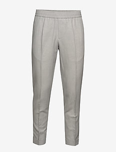 M. Terry Cropped Linen Slacks - casual - sterling g