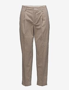 Simone Cord Trousers - pantalons droits - stone