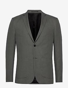M. Rick Linen Blazer - blazers met enkele rij knopen - green grey