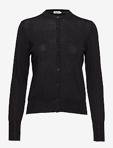 Merino Short Cardigan - BLACK