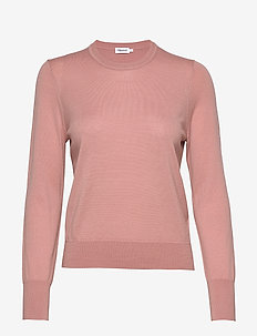 Merino R-neck Sweater - trøjer - antique ro