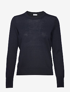Merino R-neck Sweater - trøjer - navy