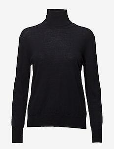 Merino Roller Neck Sweater - rullekraver - navy