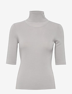 Merino Elbow Sleeve Top - swetry - sterling g