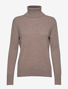 Cashmere Roller Neck Sweater - TAUPE