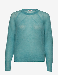 Mohair R-neck Sweater - OCEAN REEF