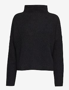 Mika Yak Funnelneck Sweater - turtlenecks - black