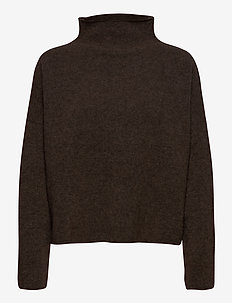 Mika Yak Funnelneck Sweater - turtlenecks - dark taupe