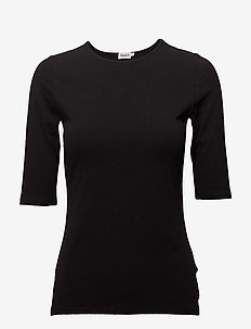 Cotton Stretch Elbow Sleeve - t-shirts - black