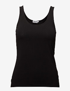 Cotton Stretch Tank Top - Ærmeløse toppe - black