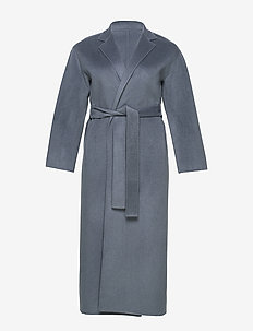 Alexa Coat - uldfrakker - blue grey