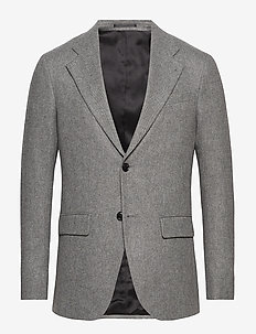 M. Sean Herringbone Jacket - single breasted blazers - grey herri