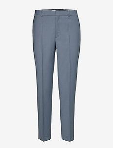Emma Cropped Cool wool Trouser - suorat housut - blue grey