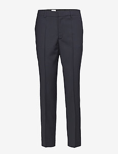 Emma Cropped Cool wool Trouser - DK. NAVY