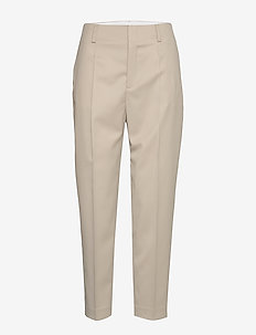 Karlie Trousers - straight leg trousers - grey beige