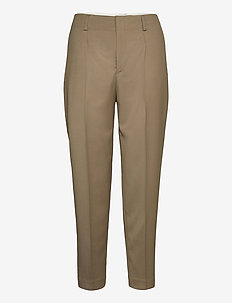 Karlie Trousers - straight leg trousers - grey taupe