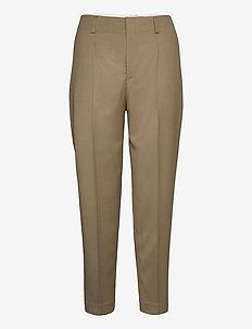 Karlie Trousers - suorat housut - grey taupe