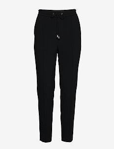 Fiona Drapey Trousers - bukser med lige ben - black