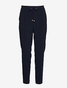 Fiona Drapey Trousers - bukser med lige ben - navy